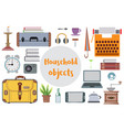 set of flat travel vector image