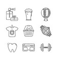 set of shopping icons and concepts in sketch style vector image vector image