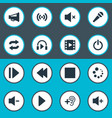 set of simple audio icons vector image vector image