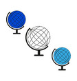 set sketch globe world icons vector image vector image