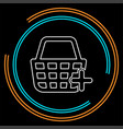shopping basket isolated vector image vector image