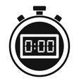 sport stopwatch icon simple style vector image vector image