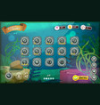 submarine game user interface for tablet vector image vector image