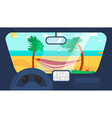 Summer Travel in Car vector image vector image