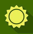 sun icon trendy summer symbol for website design vector image