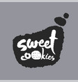 sweet cookies in a speech bubble vector image vector image