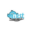 template icon bird in nest vector image