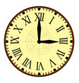 vintage clock with needles simple design vector image vector image