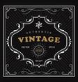 vintage frame western label antique frame hand vector image vector image