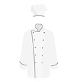 White chef uniform vector image vector image