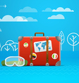 Travel bag Vacation concept vector image