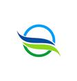 eco water nature abstract logo vector image