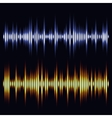 sound waves Audio wave design vector image