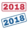 2018 Rubber Stamps vector image vector image