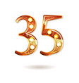 35 years gold anniversary celebration logo vector image vector image
