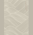 abstract art background with line pattern ocean