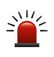 alarm siren isolated icon vector image