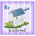 Alphabet R is for roof vector image vector image