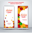 autumn stand banner roll up design vector image vector image