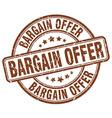 bargain offer brown grunge round vintage rubber vector image vector image