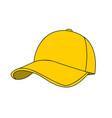 baseball cap on white vector image vector image