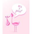 bashower girl invitation card design vector image