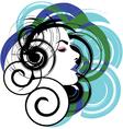 Beautiful Woman face vector image vector image