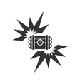 big bang flash icon flat vector image