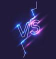 bright poster symbols of confrontation vs vector image vector image