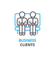 business clients concept outline icon linear vector image