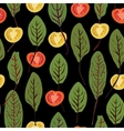Chard and tomatoes seamless pattern vector image vector image