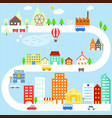 city and village vector image