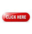 click here button here sign key push button vector image vector image