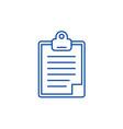 clipboard line icon concept clipboard flat vector image