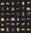 container delivery icons set simple style vector image vector image