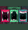 creepy halloween backgrounds monster mouth vector image