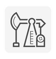 crude oil pump in oil industry work icon design vector image