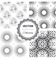 Ddoodle abstract seamless pattern collection vector image vector image