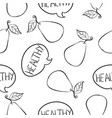doodle of healthy fruit hand draw vector image vector image