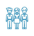 family bonds linear icon concept family bonds vector image
