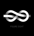 figure eight knot symbol figure 8 vector image vector image