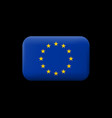 flag of european union matted icon and button vector image vector image