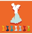 Flat design flamenco dancer vector image vector image