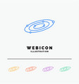 galaxy astronomy planets system universe 5 color vector image