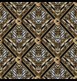 geometric meander seamless pattern vector image