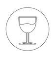 glass drink icon design vector image