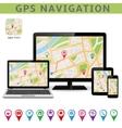 Global Positioning System Navigation vector image vector image