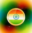 golden indian label vector image