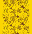 honey pattern wallpaper with a bee background for vector image vector image