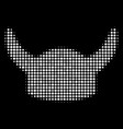 horned helmet halftone icon vector image vector image